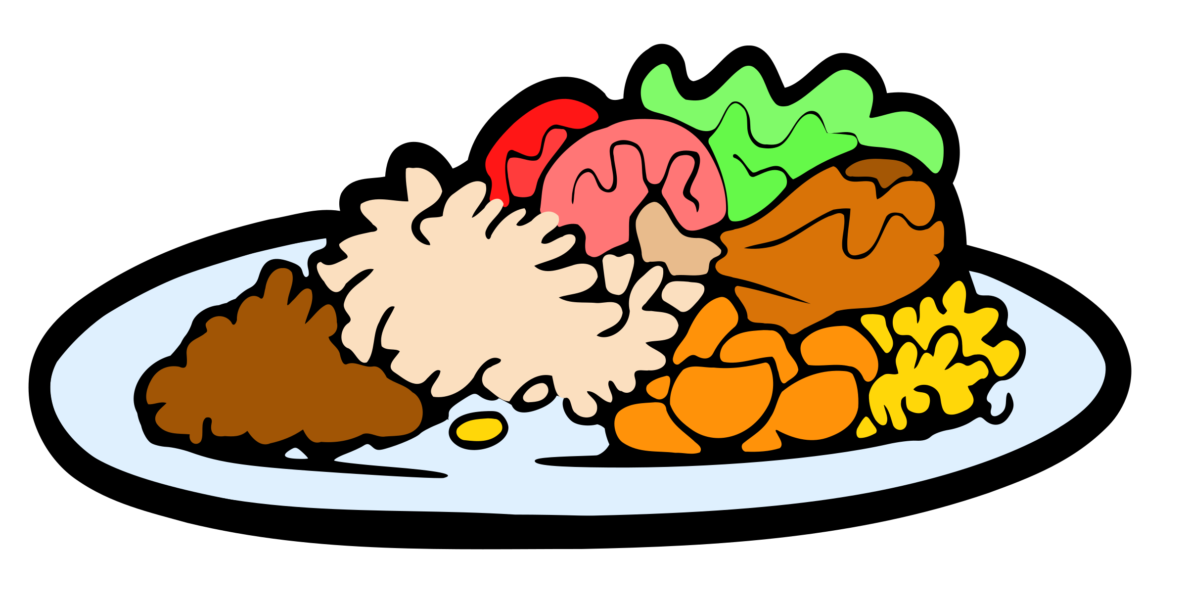 plate of food dinner clipart